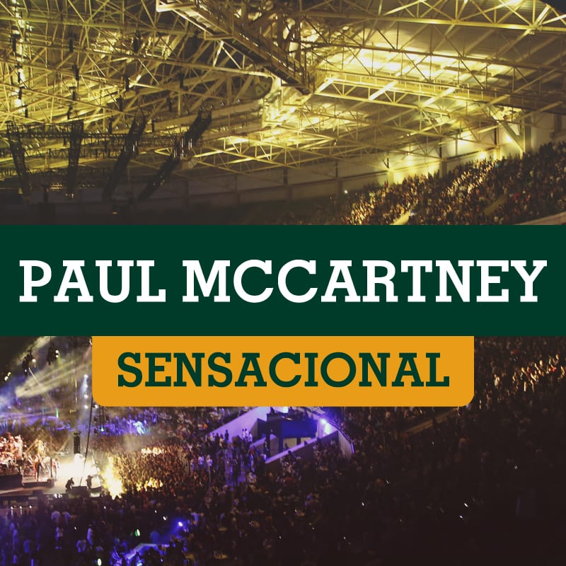 Paul McCartney dia 27/03 no Allianz Parque